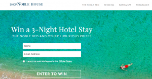 Noble House Hotels & Resorts – ShopNobleHouse.com 2017 – Win a grand prize of a 3-night stay at any Noble House OR 1 of 6 minor prizes