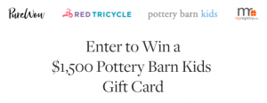 Purewow – Pottery Barn Kids Holiday – Win $1,500 Pottery Barn Kids gift cards