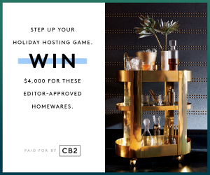 Refinery29 + CB2 – Holiday – Win a $4,000 gift card to CB2