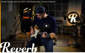 Reverb – Found on Reverb – Win a grand prize of an original 1964 Fender Stratocaster valued at $12,000 OR 1 of 2 runner-up prizes