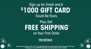 Sierra Trading Post – Holiday – Win 1 of 5 prizes of 2 gift cards valued at $1,000 each