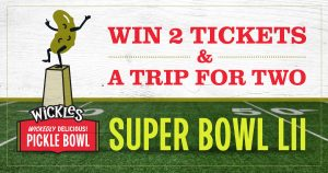 Sims Foods – Wickles Pickles Wickedly Delicious Super Bowl – Win a trip for 2 to Minneapolis, Minnesota & 2 tickets to Super Bowl 52