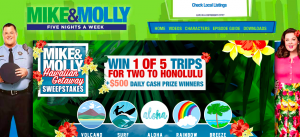 Warner Bros. Mike & Molly – Hawaiian Getaway – Win 1 of 5 trips for 2 to the greater Honolulu area OR 1 of 23 minor prizes