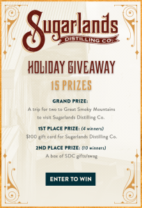 Wide Open Country – Sugarlands Holiday – Win a grand prize of a trip for 2 to Great Smoky Mountains OR 1 of 14 minor prizes