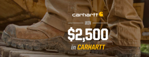 WorkBoots.com – Carhartt – Win $2,500 in Carhartt to WorkBoots.com