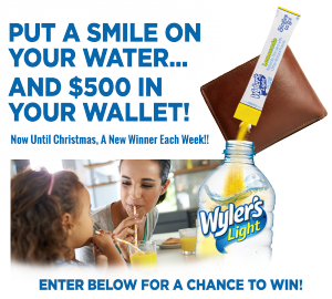 Wyler's Light – Holiday Shopping – Win 1 of 6 GGP branded gift cards valued at $500 each