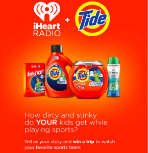 iHeart Radio – Win a trip for 2 to watch your favorite sports team valued at $4,000