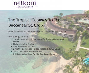 reBloom – Win a Tropical Getaway to the Buccaneer St. Croix valued at $3,500