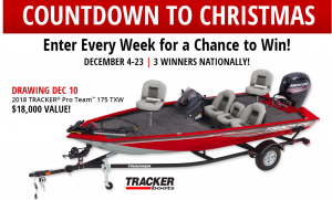 "Bass Pro Shops – ""Countdown to Christmas 2017"" – Win 1 of 3 grand prizes valued at up to $36,300 OR many other prizes"