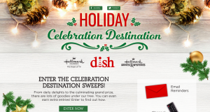 Crown Media – Dish 2017 Holiday Celebration Destination – Win a grand prize of a Samsung 55″ led Smart 4K Ultra HD TV OR 1 of 30 daily prizes