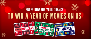 Fandango – Win 1 of 4 prizes of a Free Year of Movies valued at $300 each