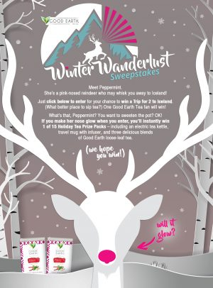 Good Earth Teas – Winter Wanderlust – Win a grand prize of a $2,250 cash OR 1 of 15 minor prizes