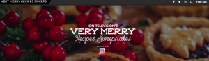 ION Television – Very Merry Recipes – Win 1 of 3 American Express Gift Cards valued at $1,500 each