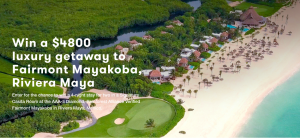 Juice Beauty – Win a 4-night stay for 2 in Fairmont Mayaboka, Riviera Maya, Mexico