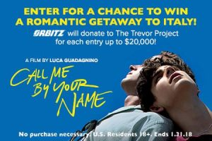 Landmark Theaters – Call Me By Your Name – Win a grand prize of a flight credit valued at $1,983