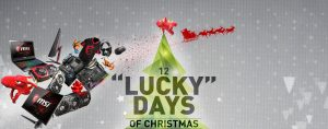 MSI – 12 Days of Lucky Giveaway – Win 1 of 12 prizes