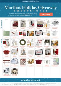 Meredith – Martha's Holiday Giveaway – Win 1 of 36 prizes