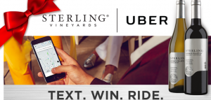 Treasury Wine Estates – Sterling Uber – Win 1 of 18,910 Uber credit valued at $10 each