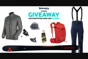 Backcountry Magazine – December Giveaway Sweepstakes