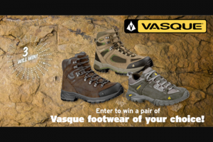 Boys' Life – Click To Win Giveaway – Win one a pair of Vasque footwear of their choice