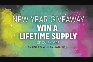Calendarscom – New Year Giveaway Sweepstakes