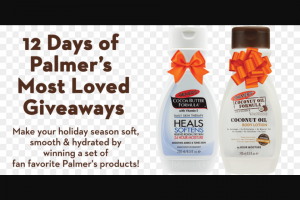 E T Browne Drug – 12 Days Of Palmer's Most Loved Giveaway – Win each day of the sweepstakes