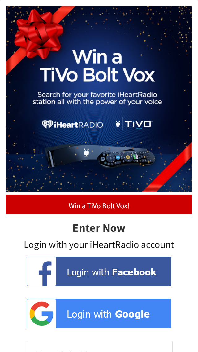 Iheartradio & Tivo – Bolt Vox 1tb Giveaway – Win a