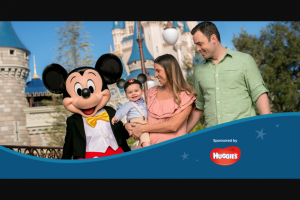 Kimberly-Clark – Magical Getaway – Win (1) GRAND PRIZE A vacation for four (4) to The Walt Disney World® Resort