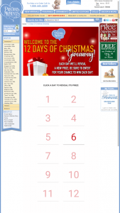 Precious Moments – 12 Days Of Christmas Giveaway Sweepstakes