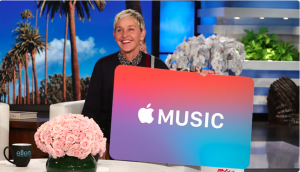 Ellen Tube – Win a 12-Month Apple Music Subscription