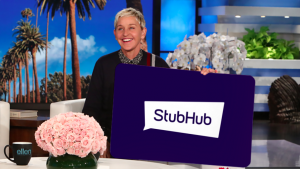 Ellen Tube – Win a $300 Stubhub Gift Card