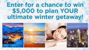Hallmark Channel – Win $5,000 to plan Your Ultimate Winter Getaway