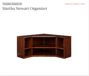 Martha Stewart – Daily Sweepstakes – Win a Martha Stewart Organizer