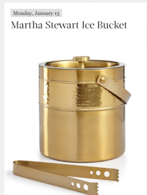 Martha Stewart – Daily Sweepstakes – Win either a Martha Stewart Ice Bucket valued at $100 OR an Overstock.com eGift Card valued at $100