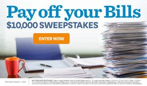 Meredith – Better Homes & Gardens – Pay off your Bills – Win a $10,000 check