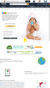 Amazon – Baby Registry Graco – Win of a $2475.00 Amazoncom Gift Card