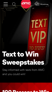 Amc – Winter 2018 Sms 100 Reasons Sweepstakes