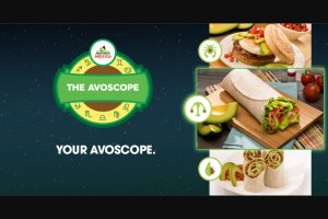 Avocados From Mexico – Avoscope I – Win $1000 Bank Gift Card and (40) First Prizes of a $100 Bank Gift Card each