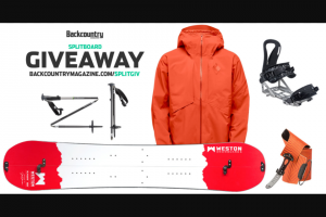Backcountry – Splitboard Giveaway Sweepstakes