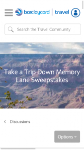 Barclaycard Travel – 2017 Travel Memory – Win a check in the amount of 30% of the value of the prize that can be used to assist with the payment of associated taxes