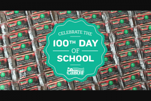 Cabot Creamery – 100th Day Of School – Win Seriously Sharp 3/4 Ounce Snacking Bars (ARV $34.00).