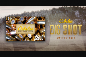 Carbontv – Cabela's Big Shot – Win Gift Card