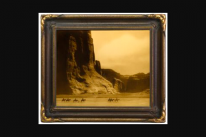 Cowboys & Indians – 25th Anniversary Giveaway February/march 2018 – Win a framed Goldtone print of Edward S Curtis' Canyon de Chelly