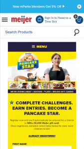 General Mills Bisquick – Pancake Star – Win a $1000 Meijer gift card