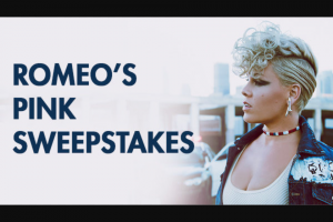 Iheart Premiere Networks – Romeo's Pink – Win three day/two night trip for Winner and one guest to see Pink perform in concert on March 26 2018 in Las Vegas Nevada