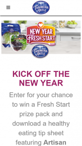 Tanimura & Antle – New Year – fresh Start Sweepstakes