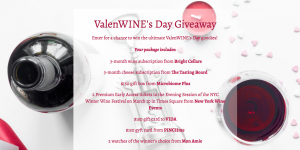 Bright Cellars – ValenWINE's Day – Win a grand prize package valued at $1,100