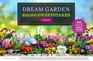 Meredith – Better Homes & Gardens – Win $10,000 for your Dream Garden