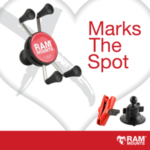 RAM Mounts – Valentine's Day – Win 1 of 5 Special Edition Red X-Grip with Twist-Lock Suction Cups