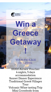Acanela – Win A Greece Getaway Sweepstakes
